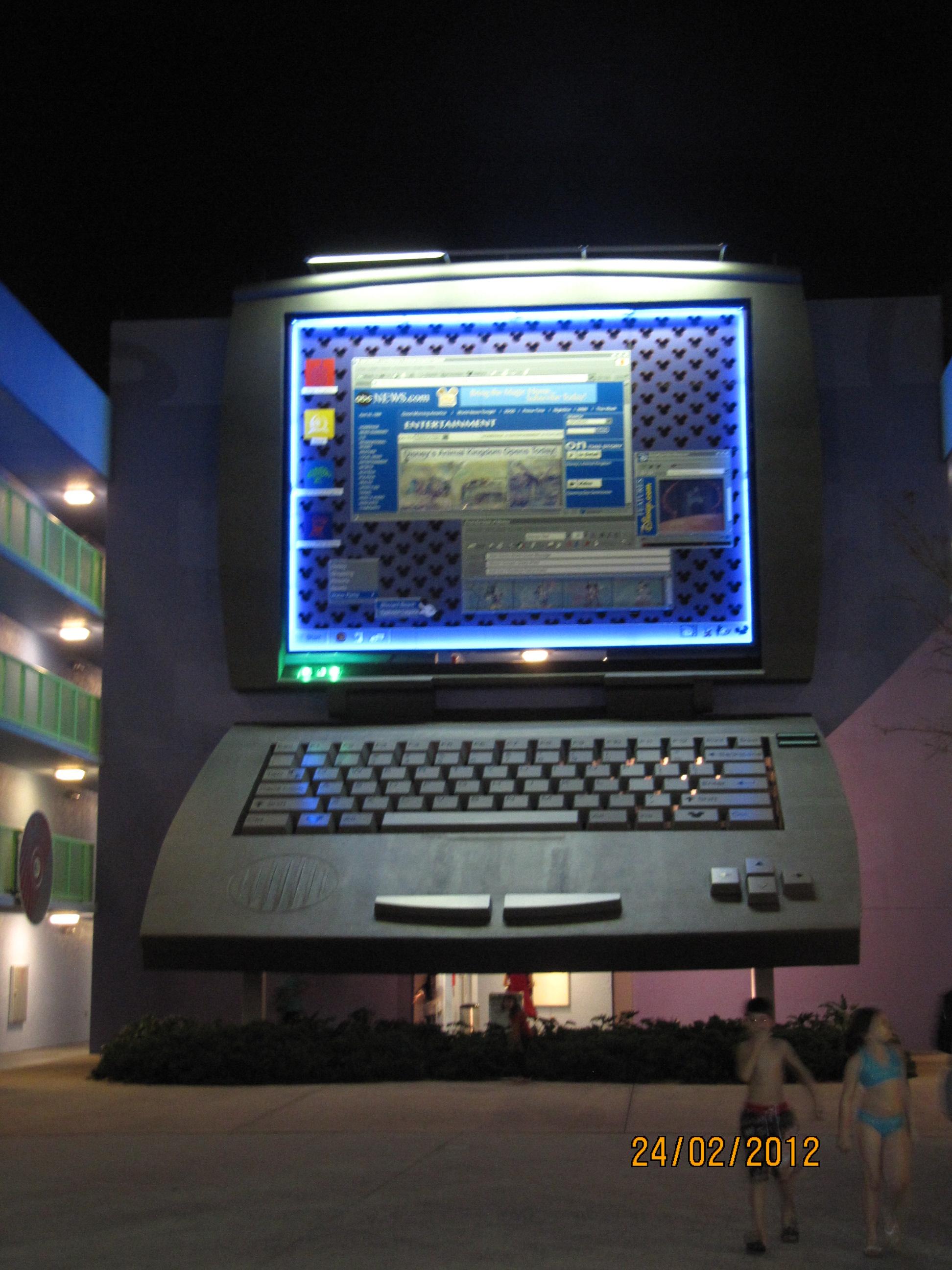 Decoração do hotel: um notebook de 3 andares!