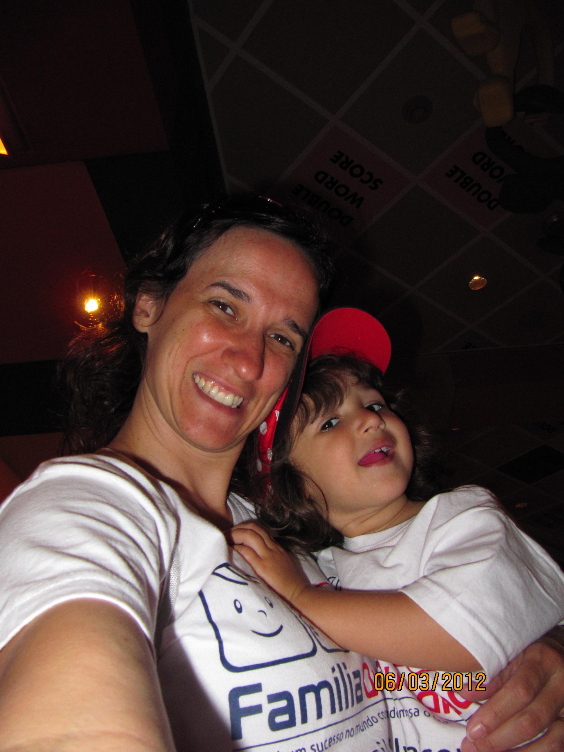 Autofoto com a mamãe