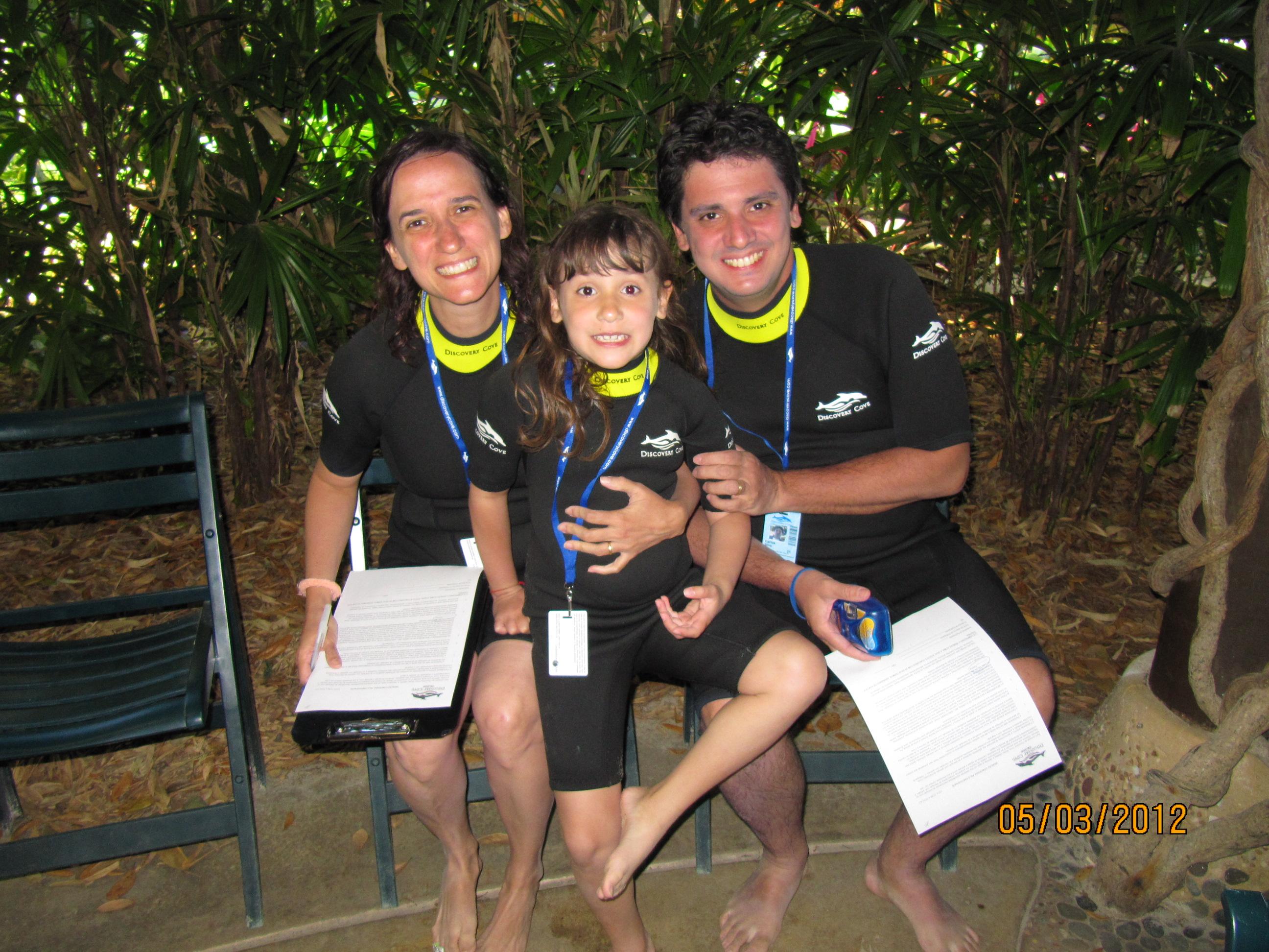 Preparados para o nado com os golfinhos