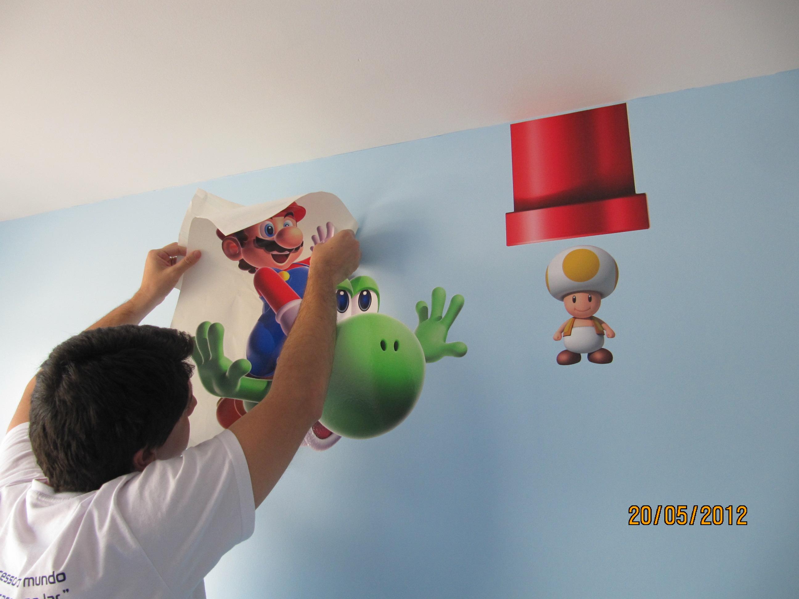 Decoração Mario Bros - Making of