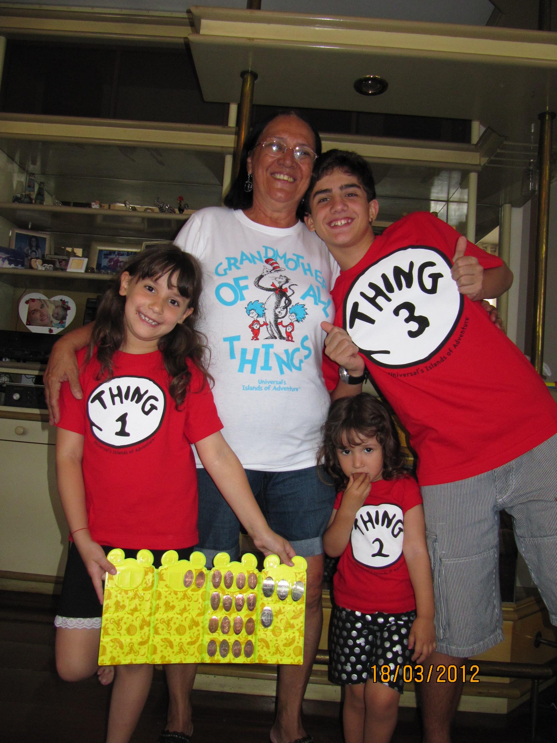 Avó de todas as coisas, junto com as Coisas 1, 2 e 3