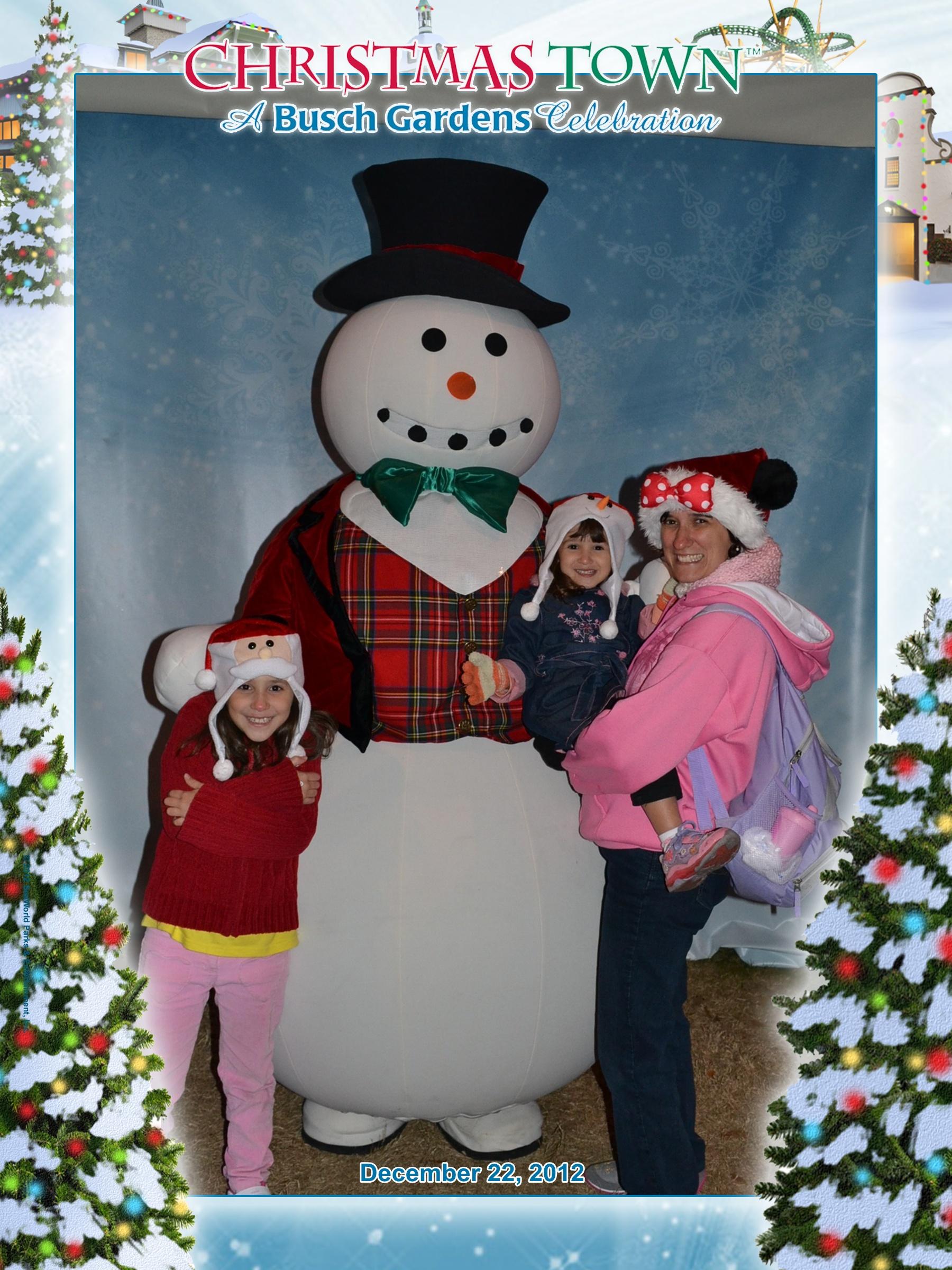 Busch Gardens: As meninas com o boneco de neve