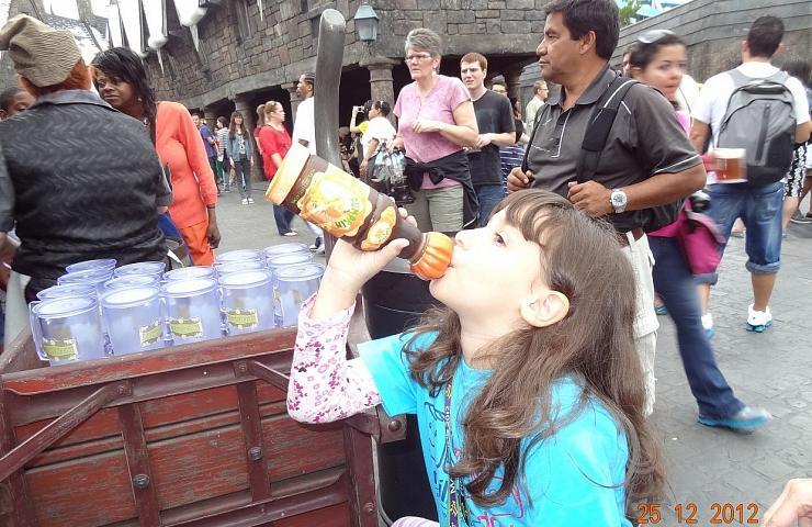 Islands of Adventure: Amanda e o suco de abóbora do Harry Potter