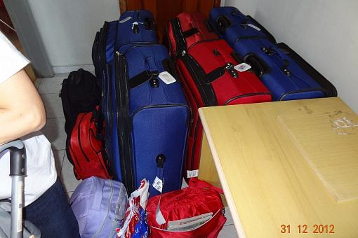 O tanto de coisas pra arrumar na volta da viagem