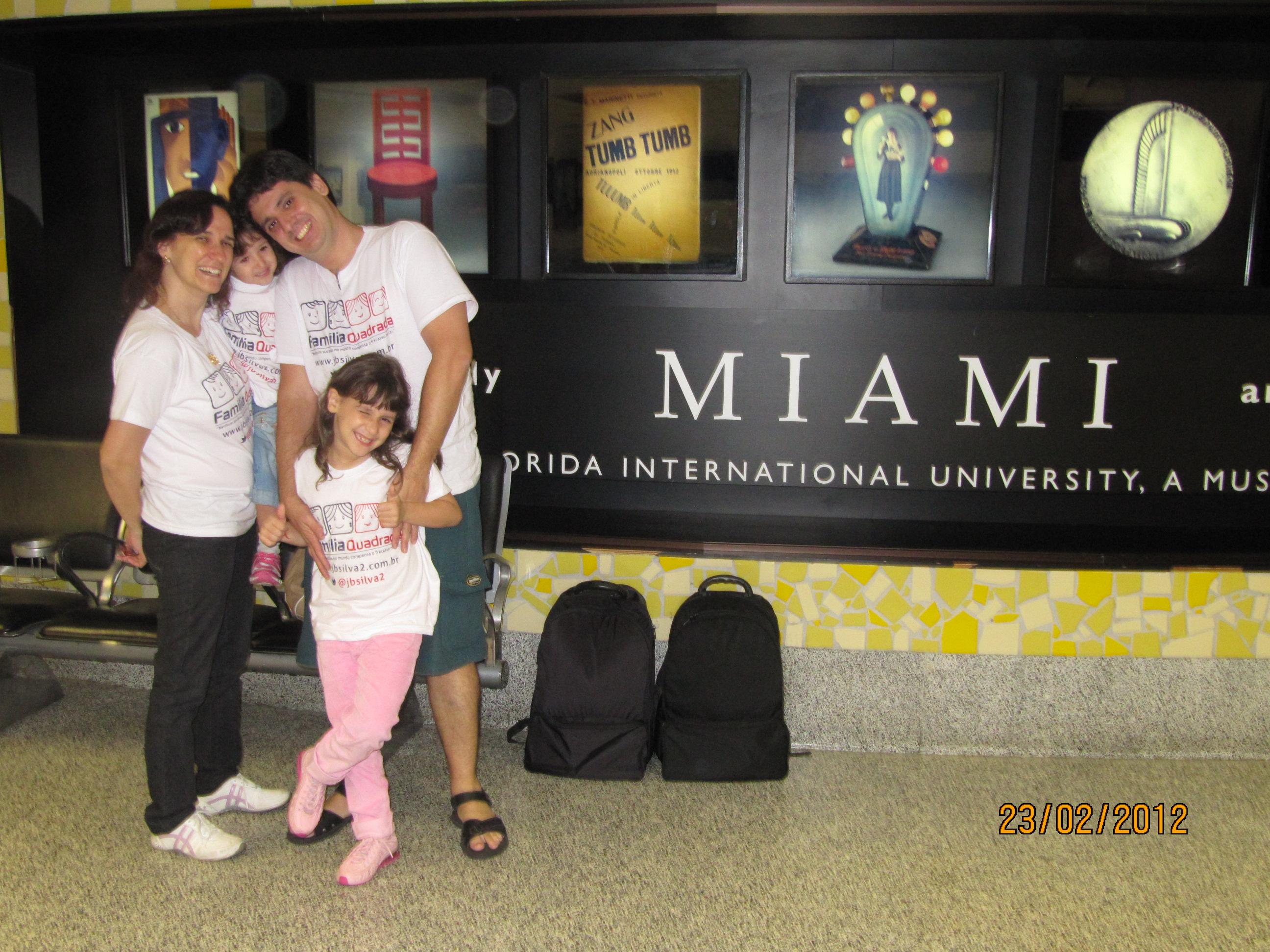 No aeroporto de Miami