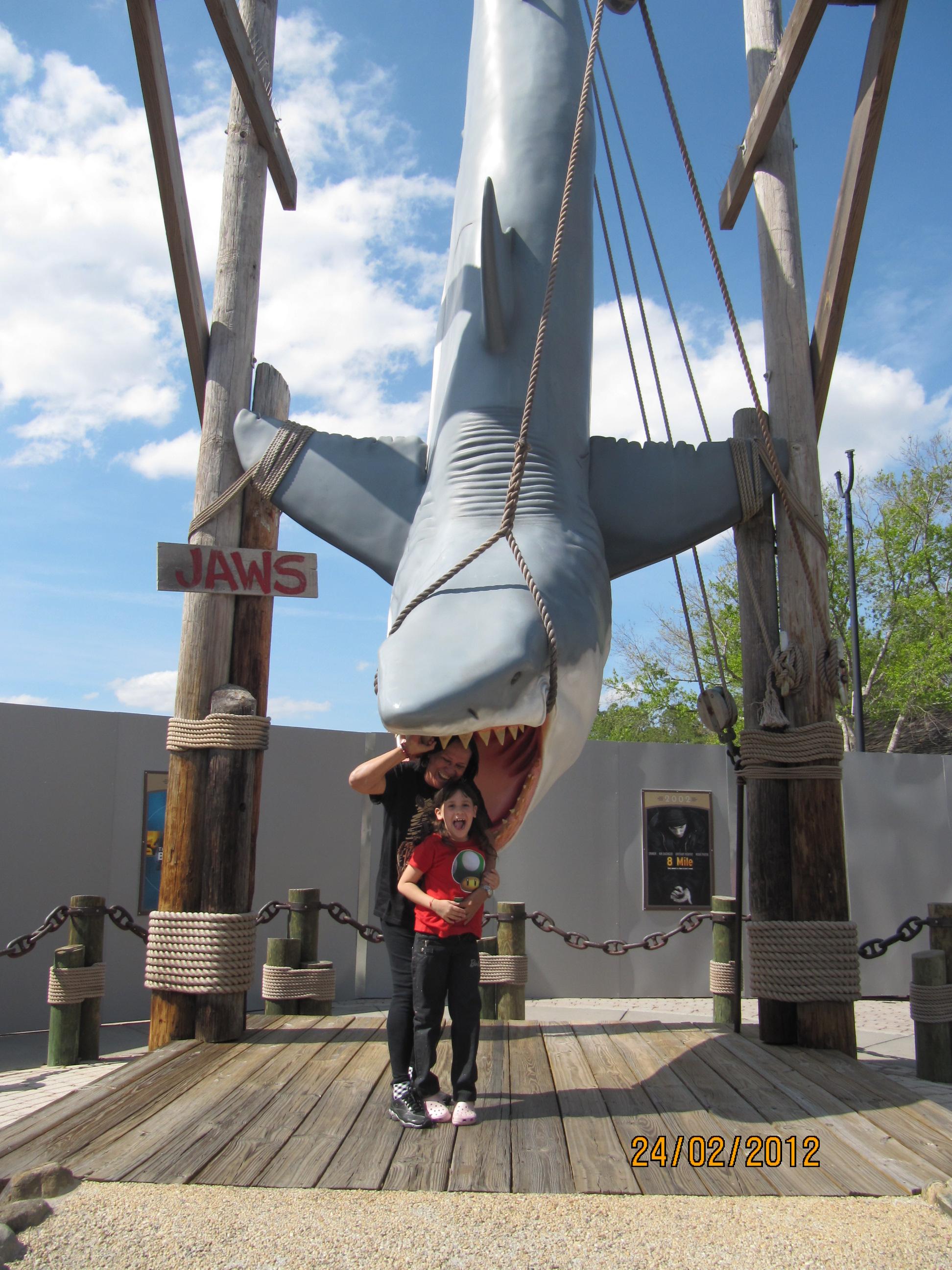 Junto com o tubarão