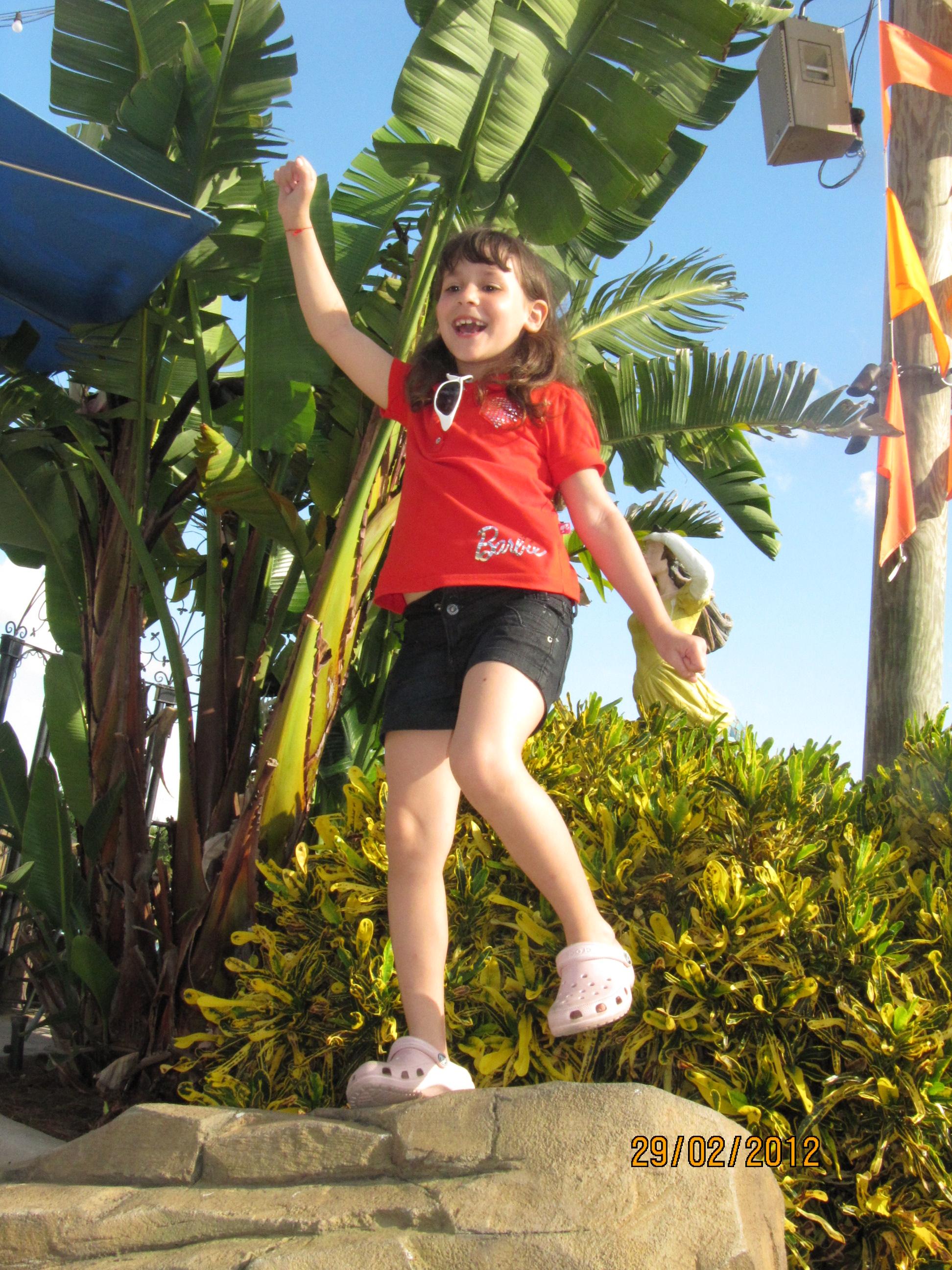 Dançando no pedestal no Sea World