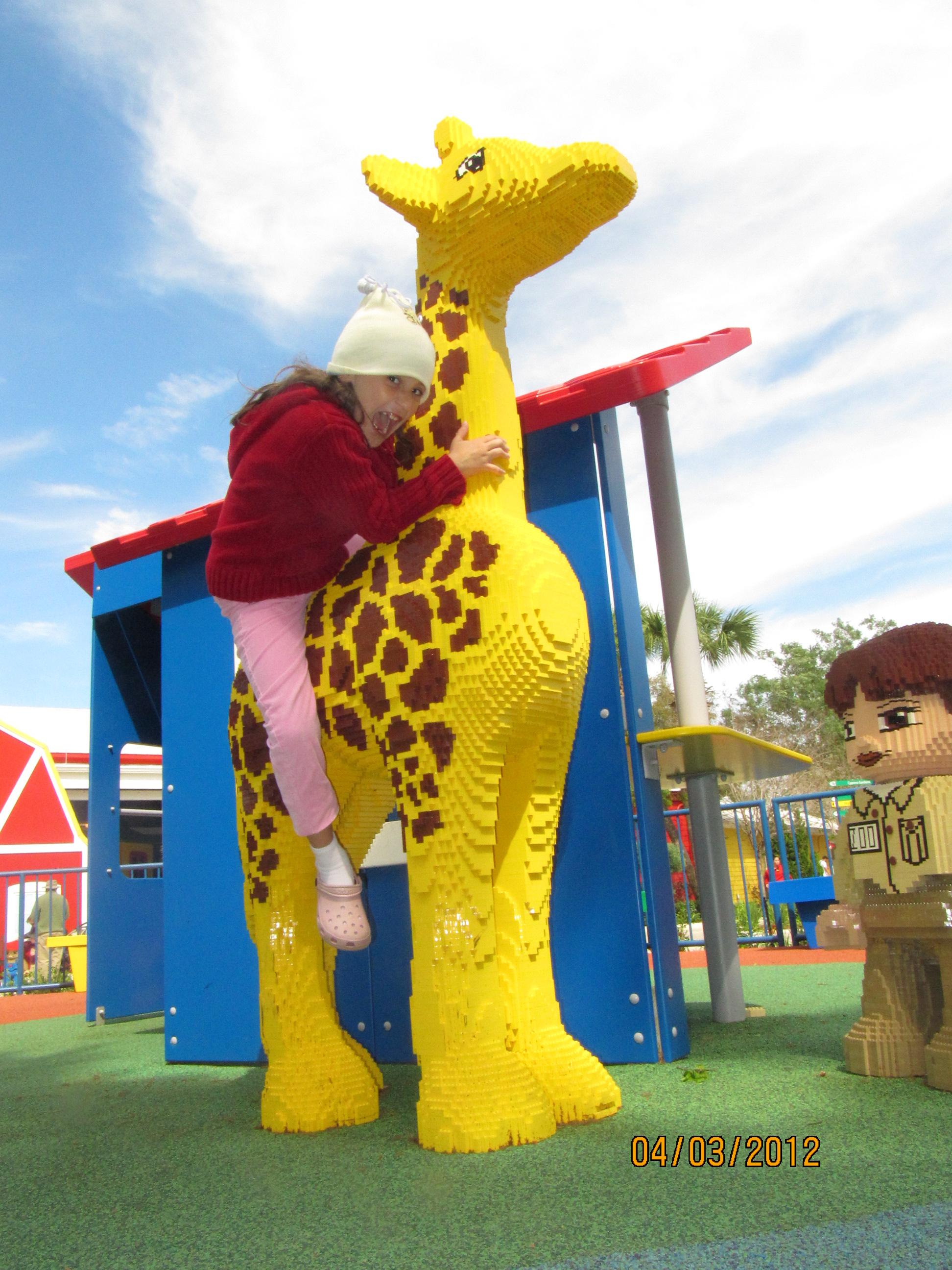 Caindo da girafa na Legoland