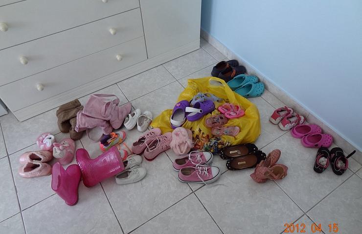 Sapatos bagunçados