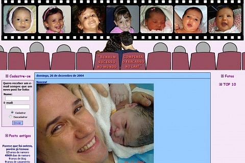 Imagem do blog anrtigo: nascimento da Amanda