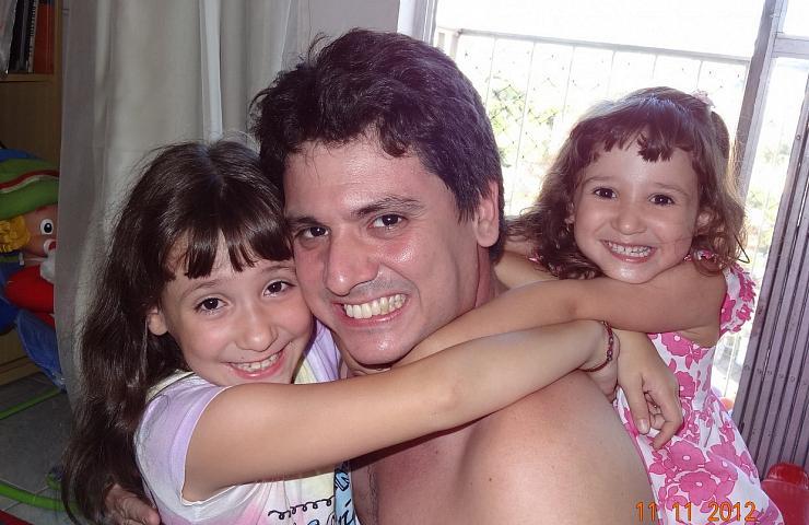 Papai, Amanda e Letícia na maior diversão!