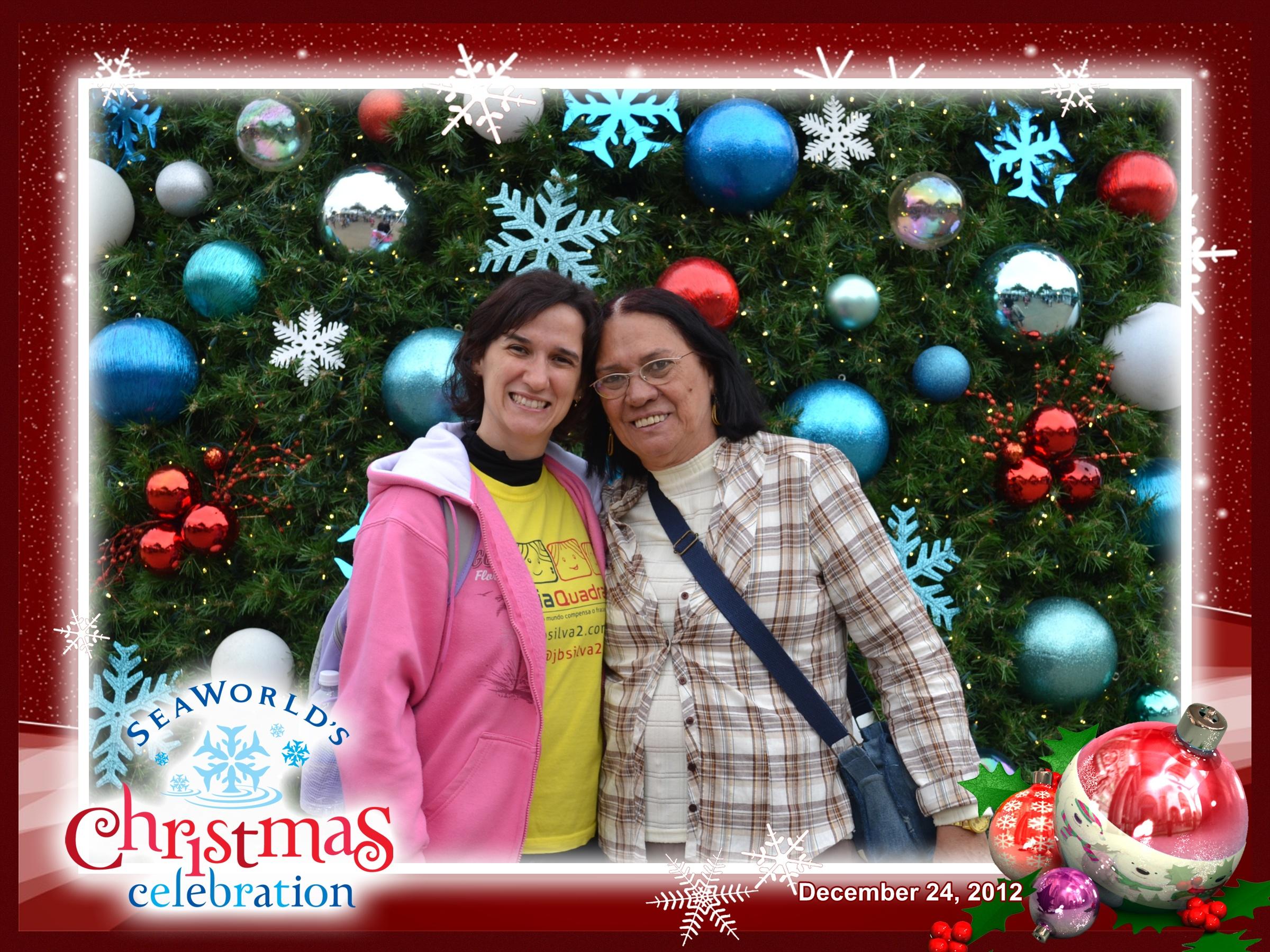 Sea World: Mônica e Lúcia na árvore de Natal