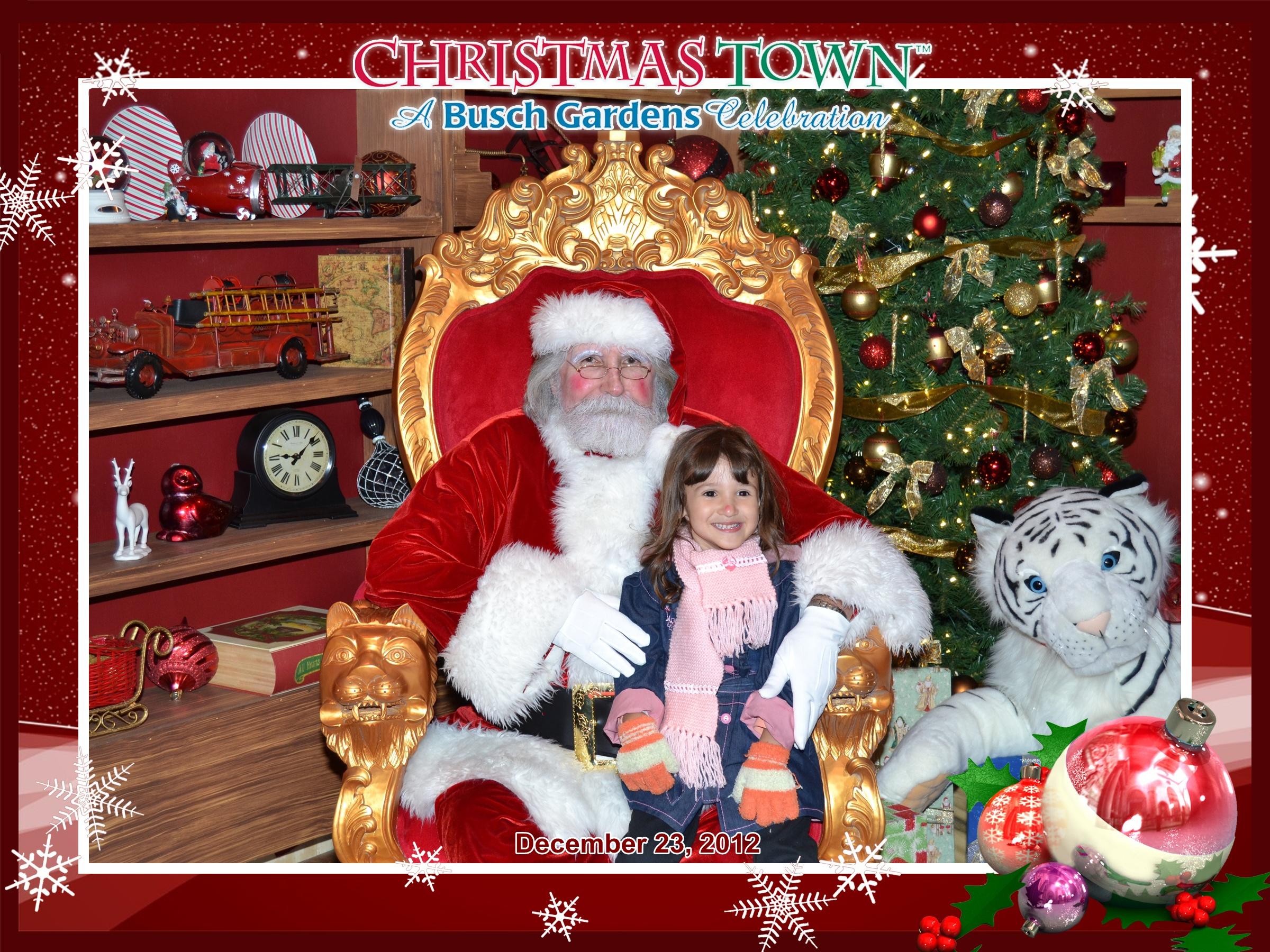 Busch Gardens: Papai Noel e Letícia