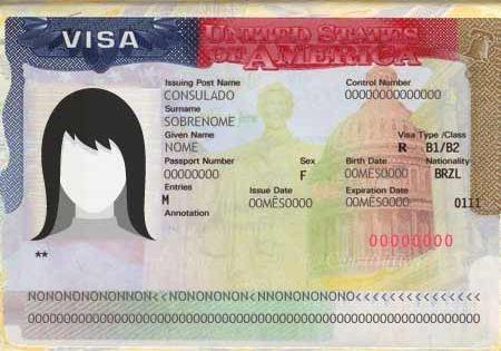 Visto americano válido em passaporte vencido